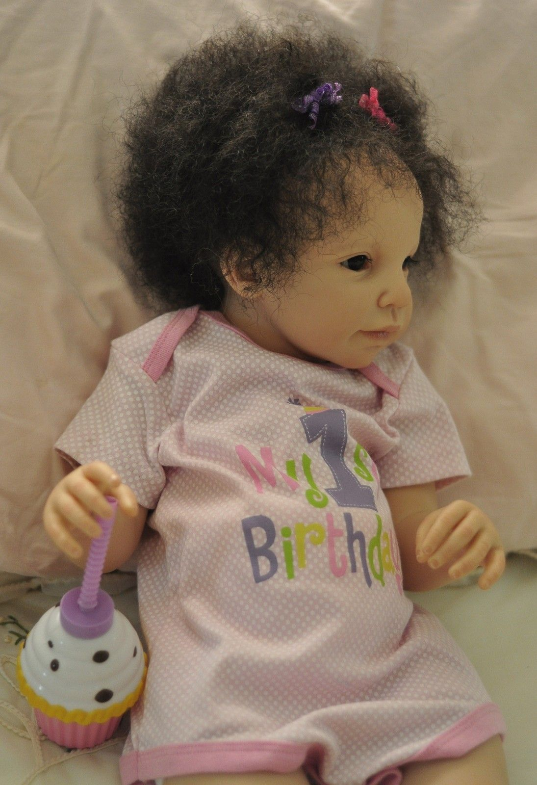 Reborn Adorable Light Skin Bi Racial Toddler Baby Girl Was Andres