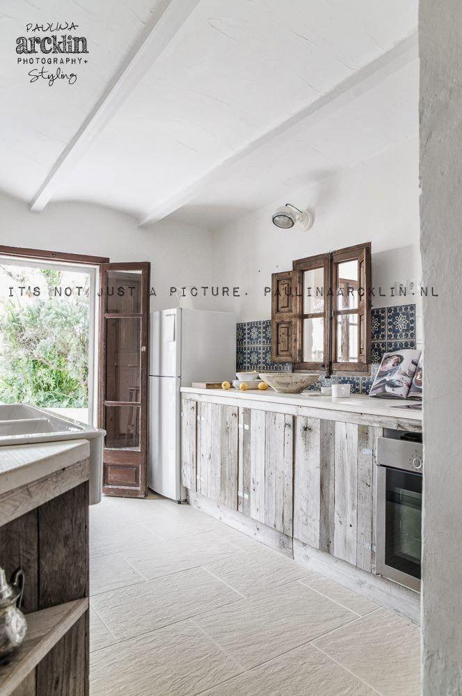 white and wood // | Ideas para el hogar | Pinterest | Cocinas ...