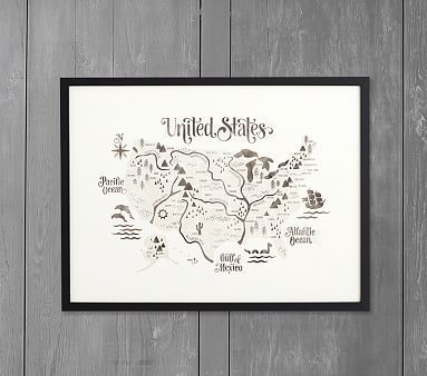 Minted 174 Pirate Map Wall Art By Jessie Steury Map Wall