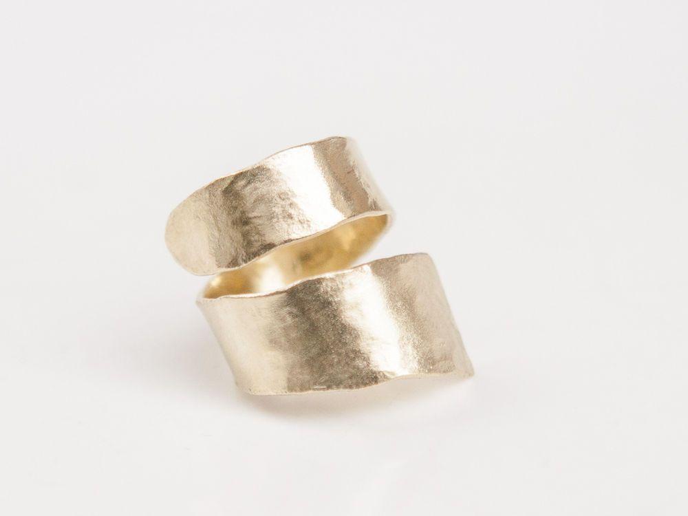Greek Handmade 24k Goldplated Hammered Ring #Handmade