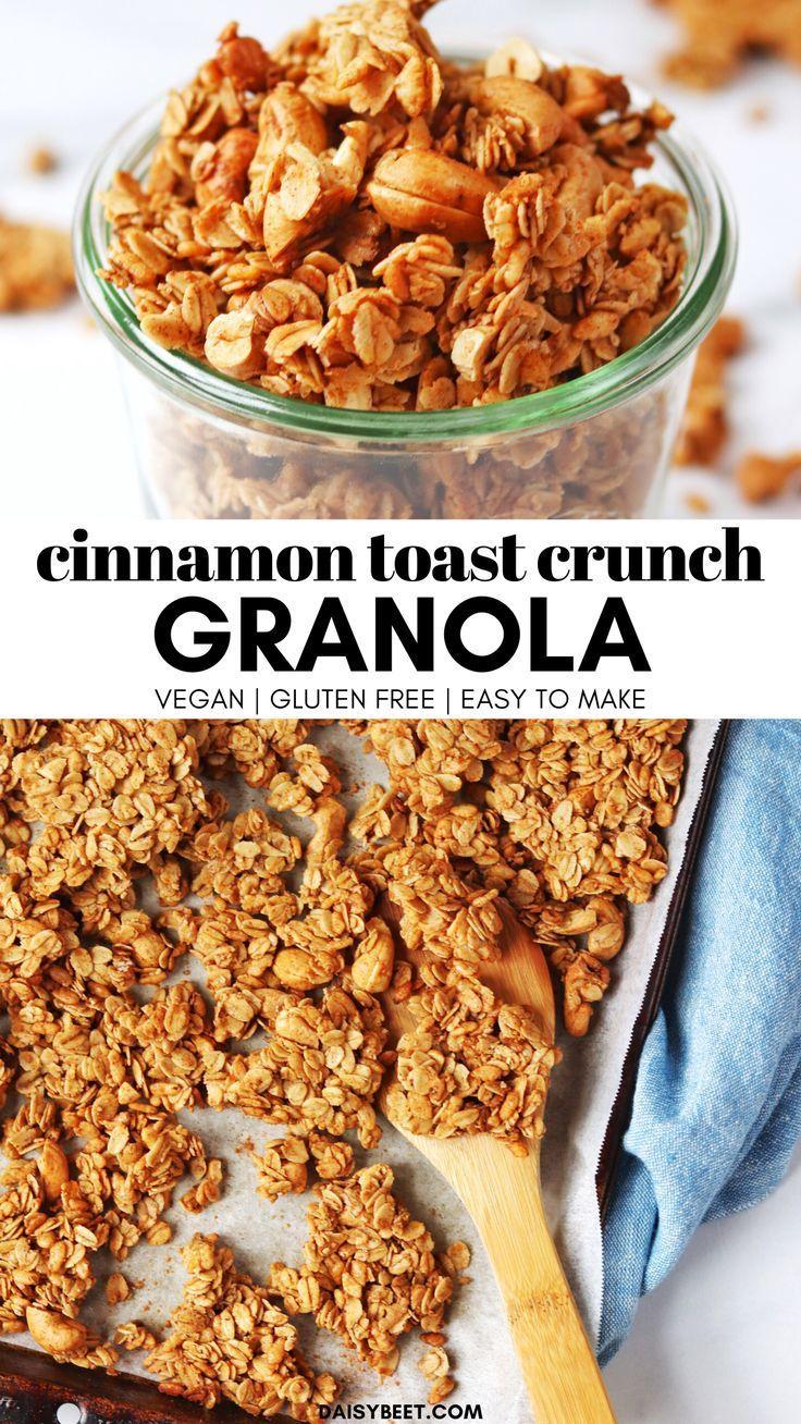Cinnamon Toast Crunch Granola (Vegan, Gluten Free) • Daisybeet