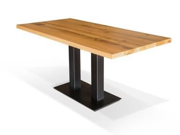 Saulentische Zeitlose Platzwunder Rund Eckig Ausziehbar Esstisch Massivholz Mobel Holz Esszimmertisch Holz