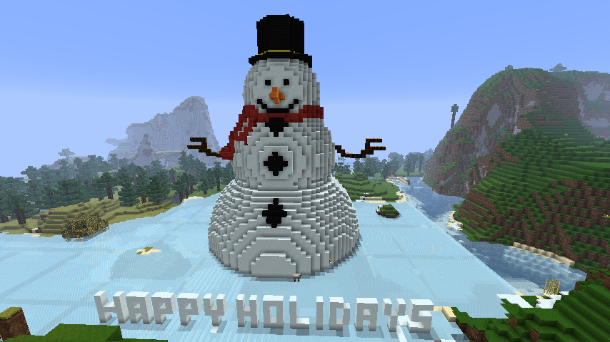 Christmas Minecraft World.No Chrismas Themed Minecraft World Would Be Complete Without