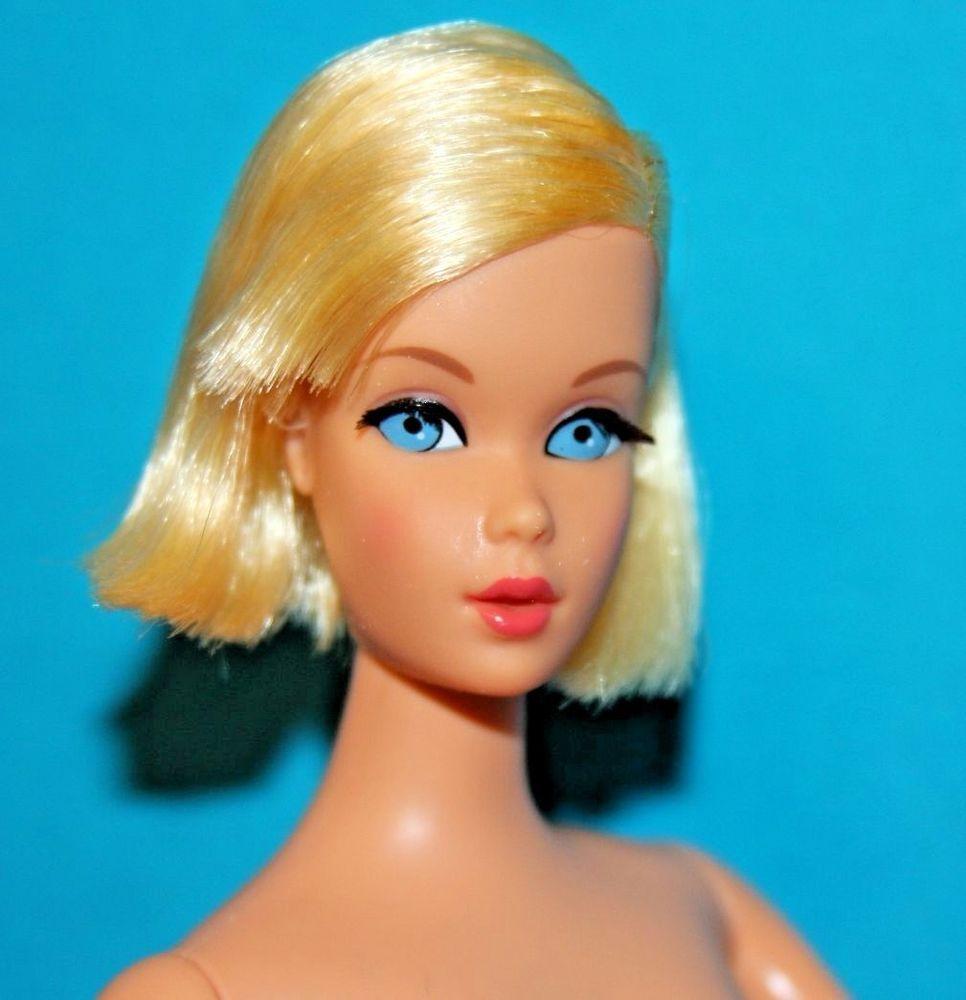 Stunning Blonde TnT Twist N Turn Flip Francie Doll Mint! *3DAY*:   Pretty face, Dolls, Groovy
