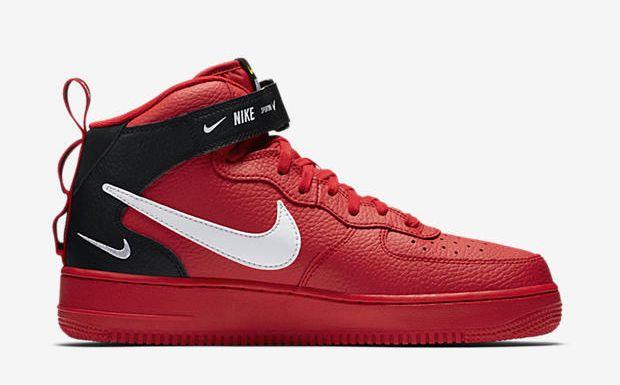 Nike Air Force 1 Mid '07 LV8 Red Black | tenis