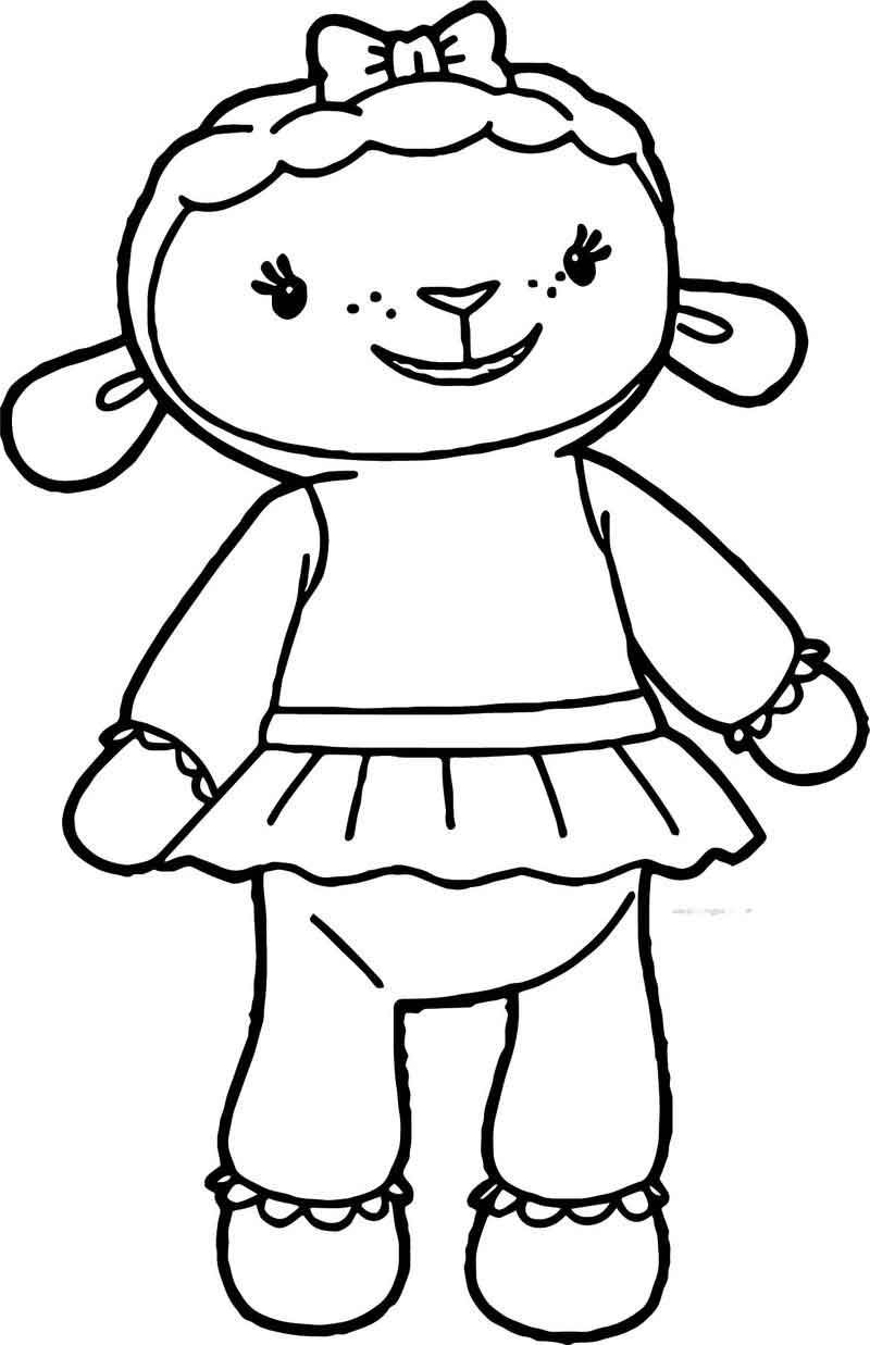 Doc Mcstuffins Lambie Sheep Coloring Page In 2020 Doc Mcstuffins Coloring Pages Doc Mcstuffins Coloring Books