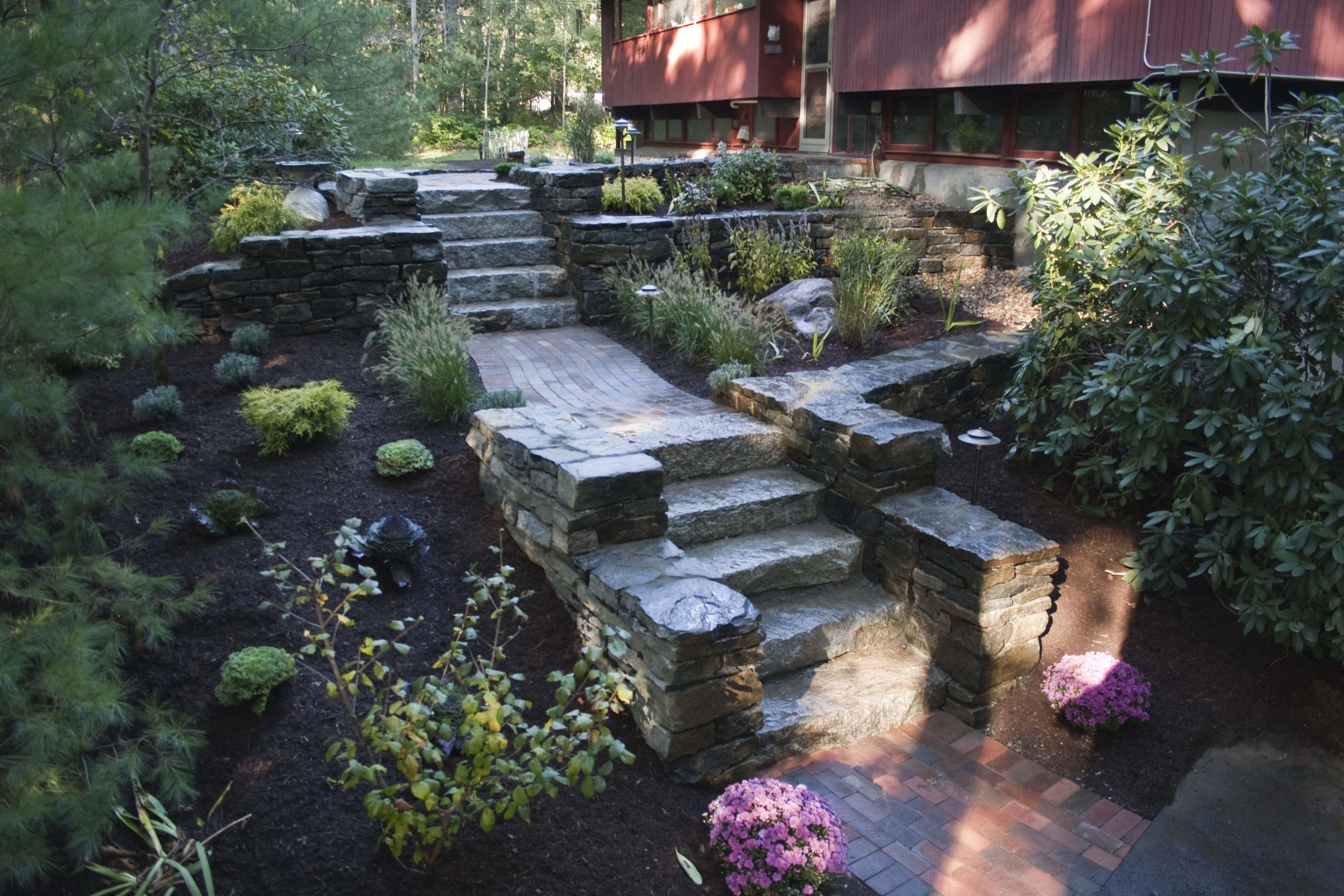Artistic Landscapes Pavers Segmental Wall And Natural