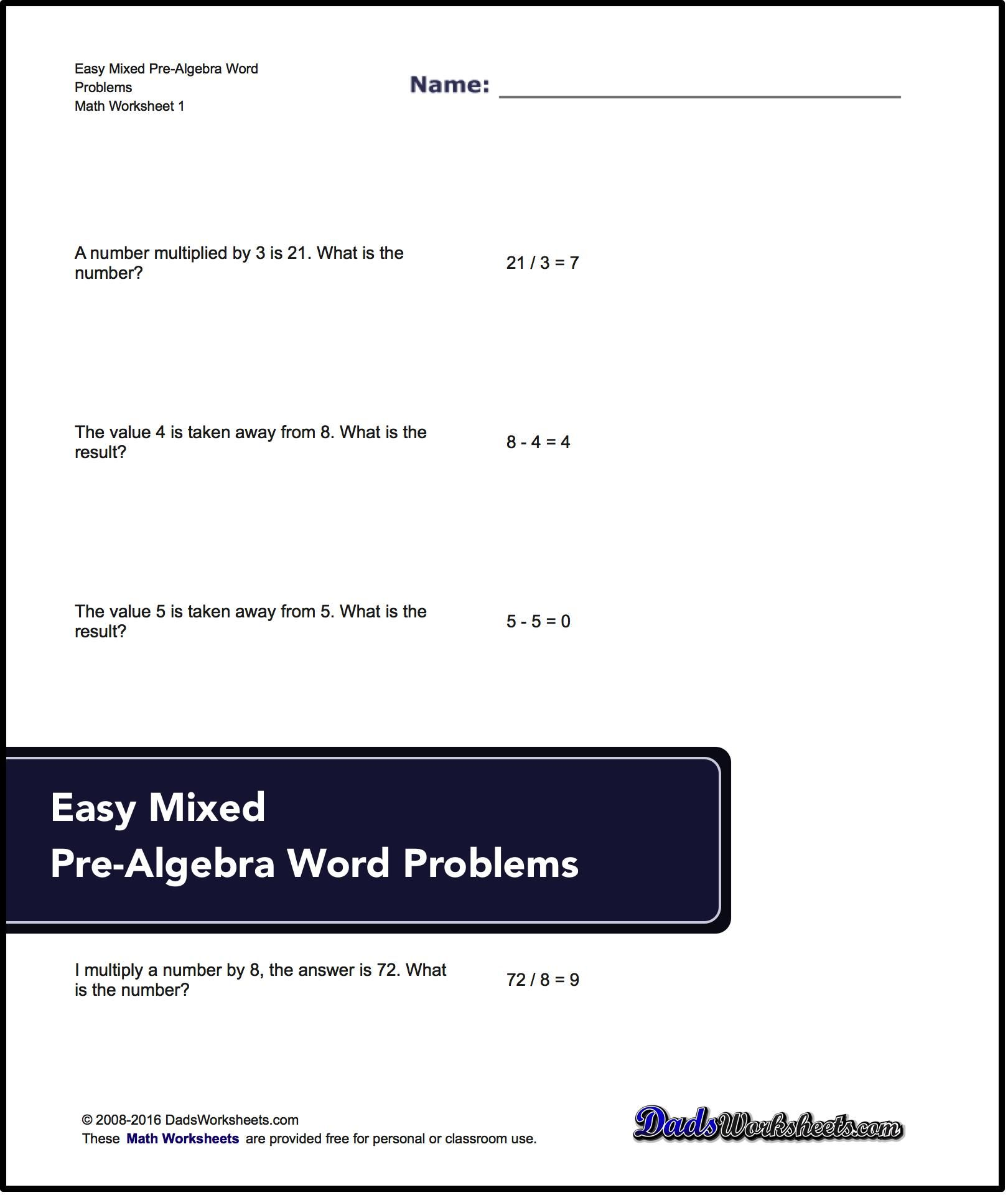 Word Problems That Use Standard Math Vocabulary To