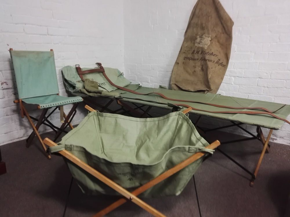 Ww2 British Officers Kit Bag Amp Field Gear Bed Chair Wash