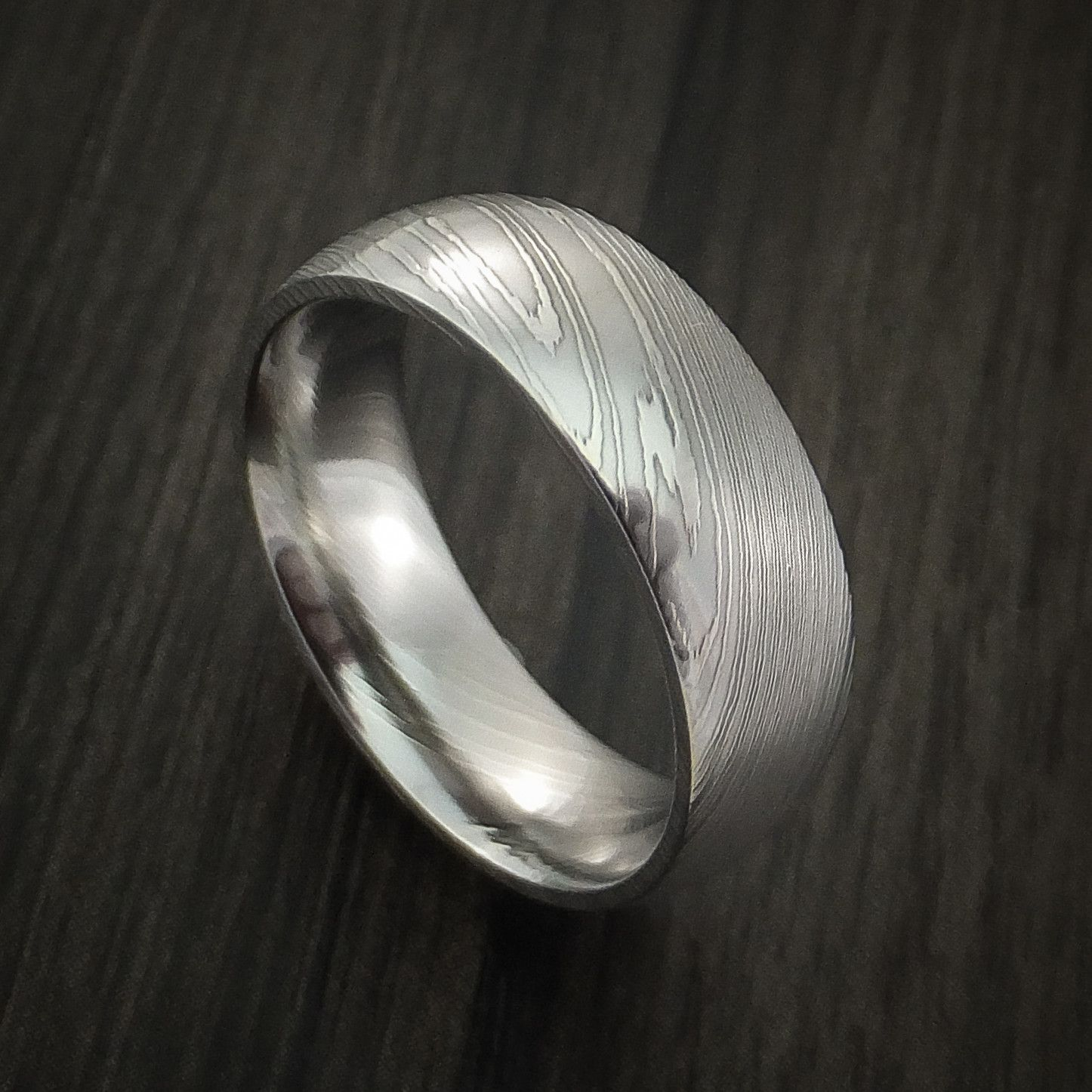 Damascus Steel Ring Wedding Band Custom Made Damascus Steel Ring Wedding Damascus Steel Ring Steel Wedding Bands