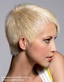 Very Short Cropped Platinum Blonde Hair Wash And Go Styling