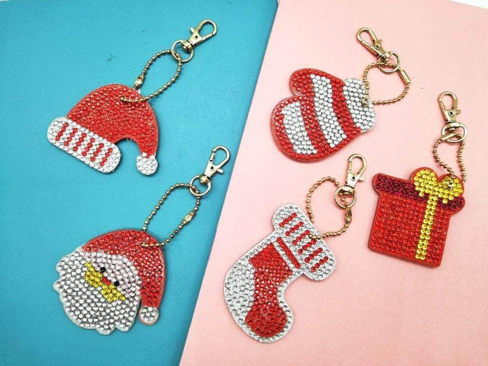 Sports & Outdoors 5Pcs Owl Key Chain DIY Diamond Painting Drill Tools Keychain Decoration Cute Keyring Keyfobs for Christmas