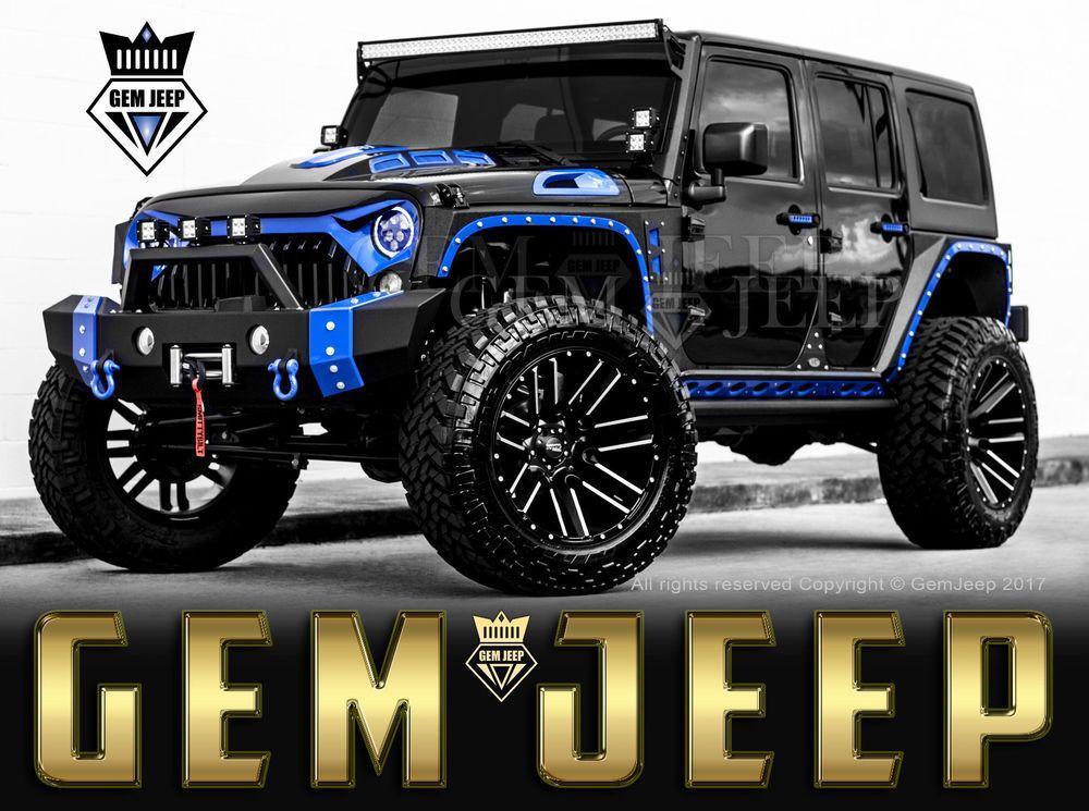 Ebay 2018 Jeep Wrangler Fully Customized Unlimited Sport Utility 4 Door Custom Jee Jeep Wrangler Unlimited Custom Jeep Wrangler Custom Jeep Wrangler Unlimited