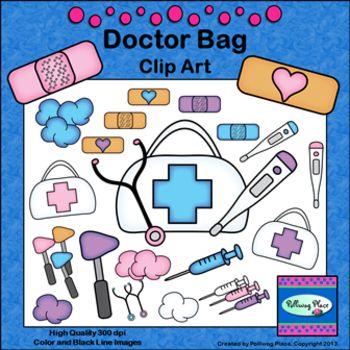 Doctor Bag Clip Art - First Aid Medical Supplies ... (350 x 350 Pixel)