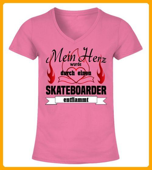 Mein Herz wurde Skateboarder - Shirts für frau (*Partner-Link)
