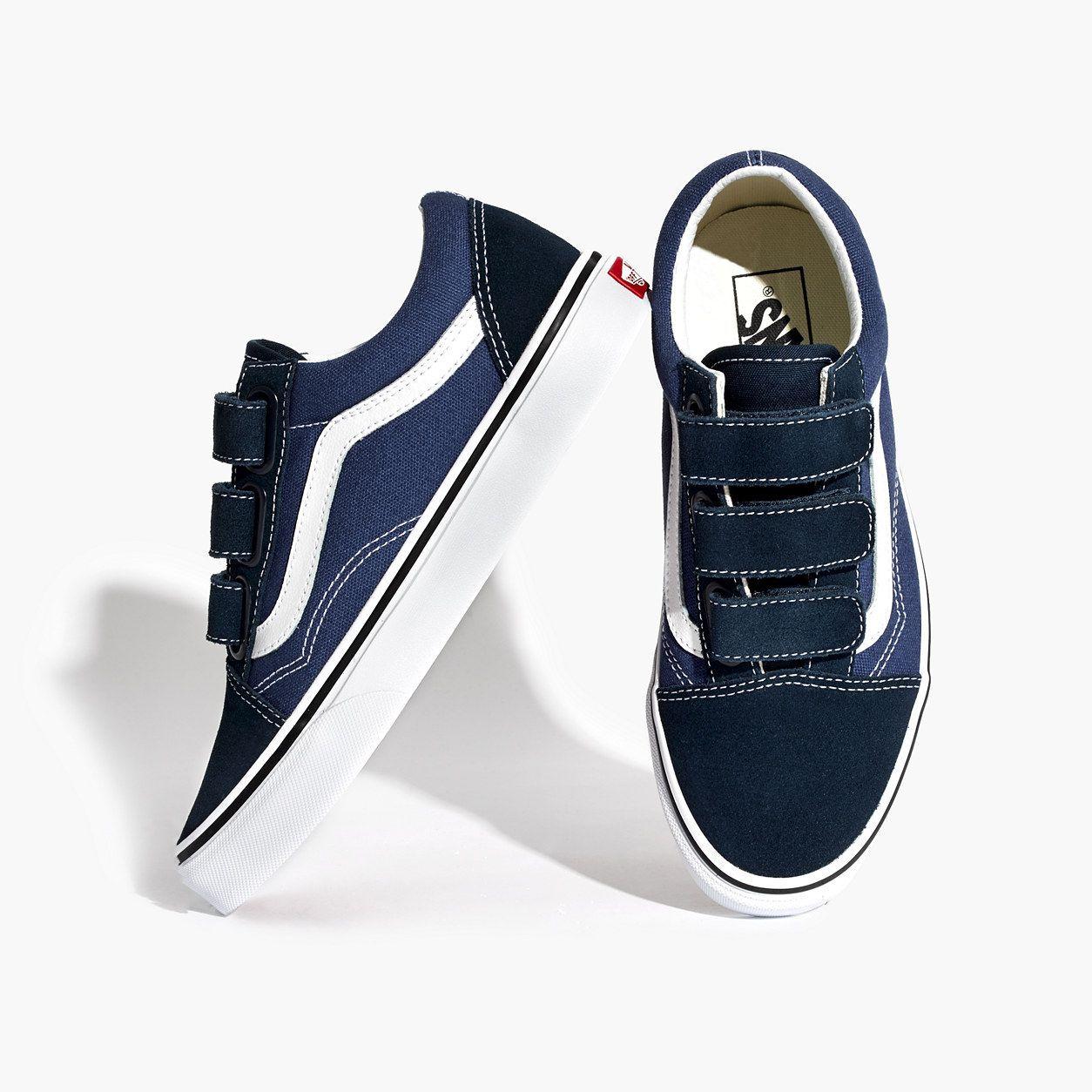 0b5e6e81795 Madewell Womens Vans Unisex Old Skool Velcro Sneakers (Size 7 M