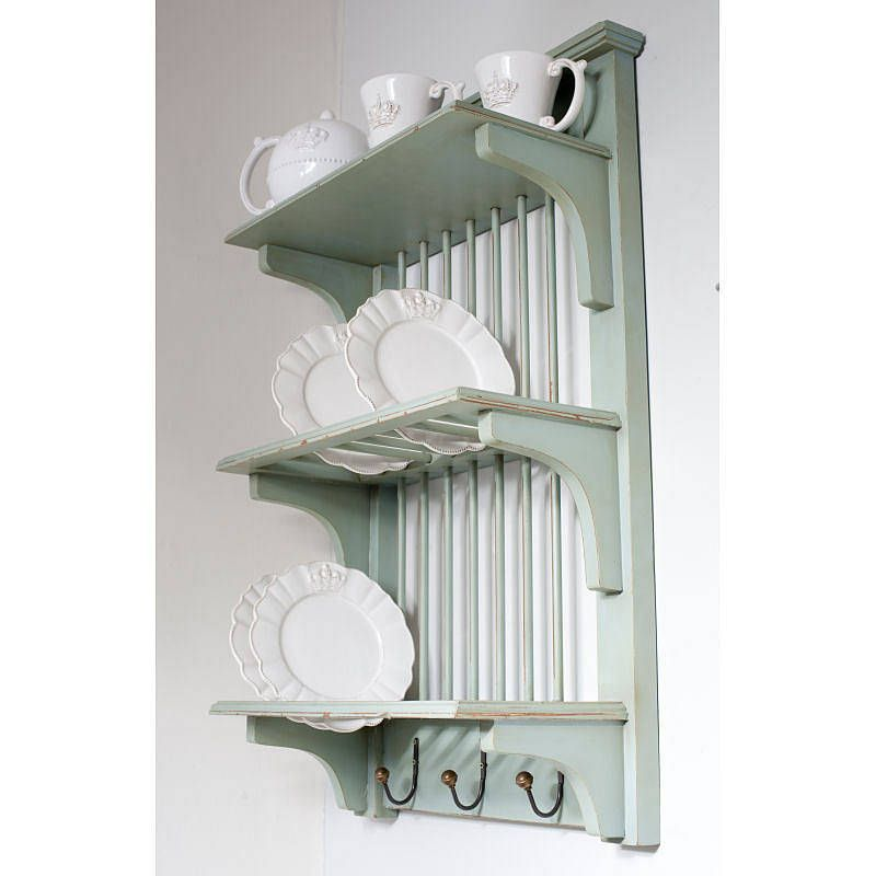 Wooden Painted Plate Rack Wall Unit  sc 1 st  Pinterest & Wooden Painted Plate Rack Wall Unit | Plate racks Shelves and Walls