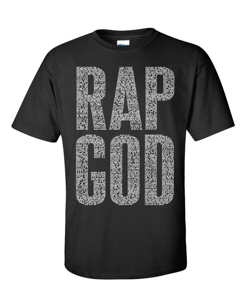 Rap God Eminem Replica Diamond Obey Black Mens Tee Shirt 833