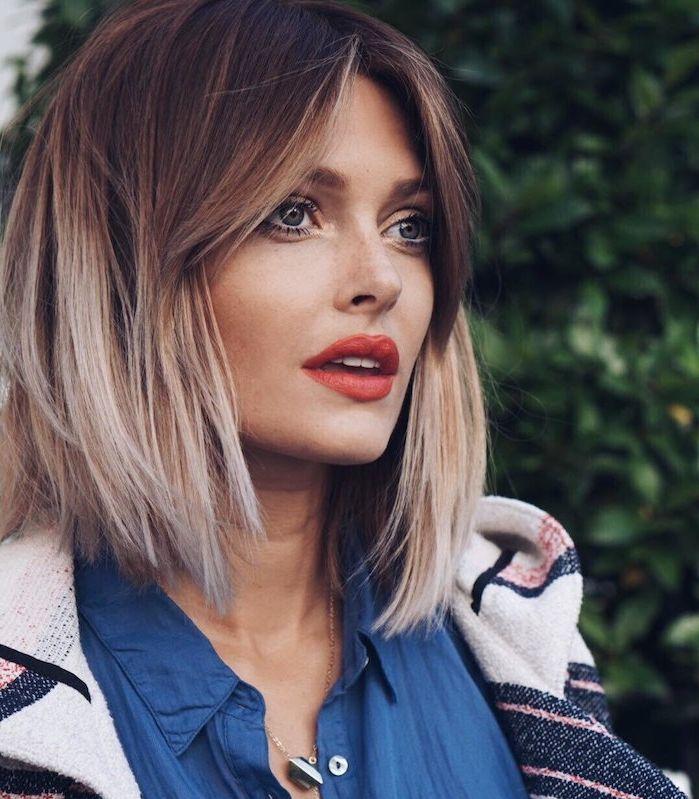 ▷ 1001 + variations de la coiffure carré plongeant chic #coupecheveuxmilong