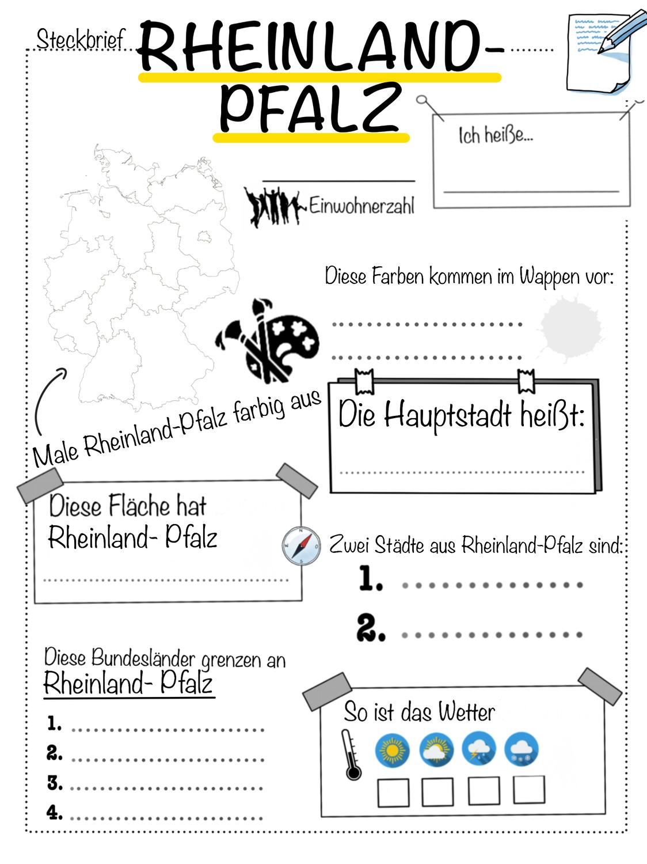 Steckbrief zum Bundesland Rheinland Pfalz – Unterrichtsmaterial in ...