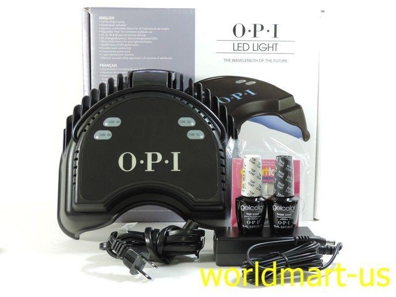 Delightful OPI LED LAMP Light Curing Gel Nail Polish (110v   240v) + Base Coat