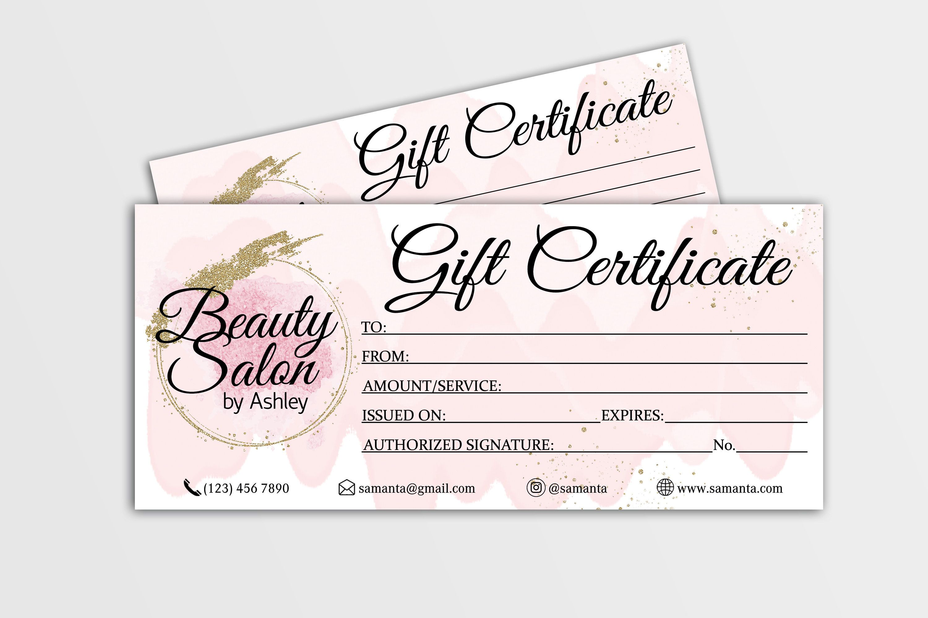 Gift Certificate template Editable Gift Card Gift Voucher  Etsy