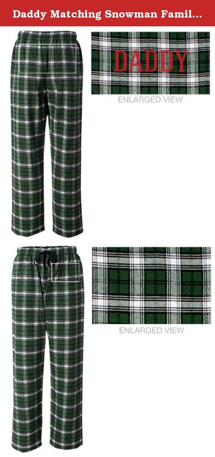 Daddy Matching Snowman Family  Unisex Flannel Pajama Pants. It s Christmas  time in your household 20c960d71