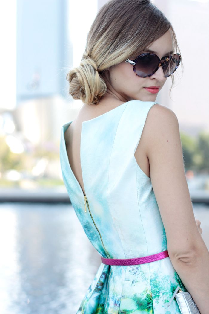 Love this chic low side bun
