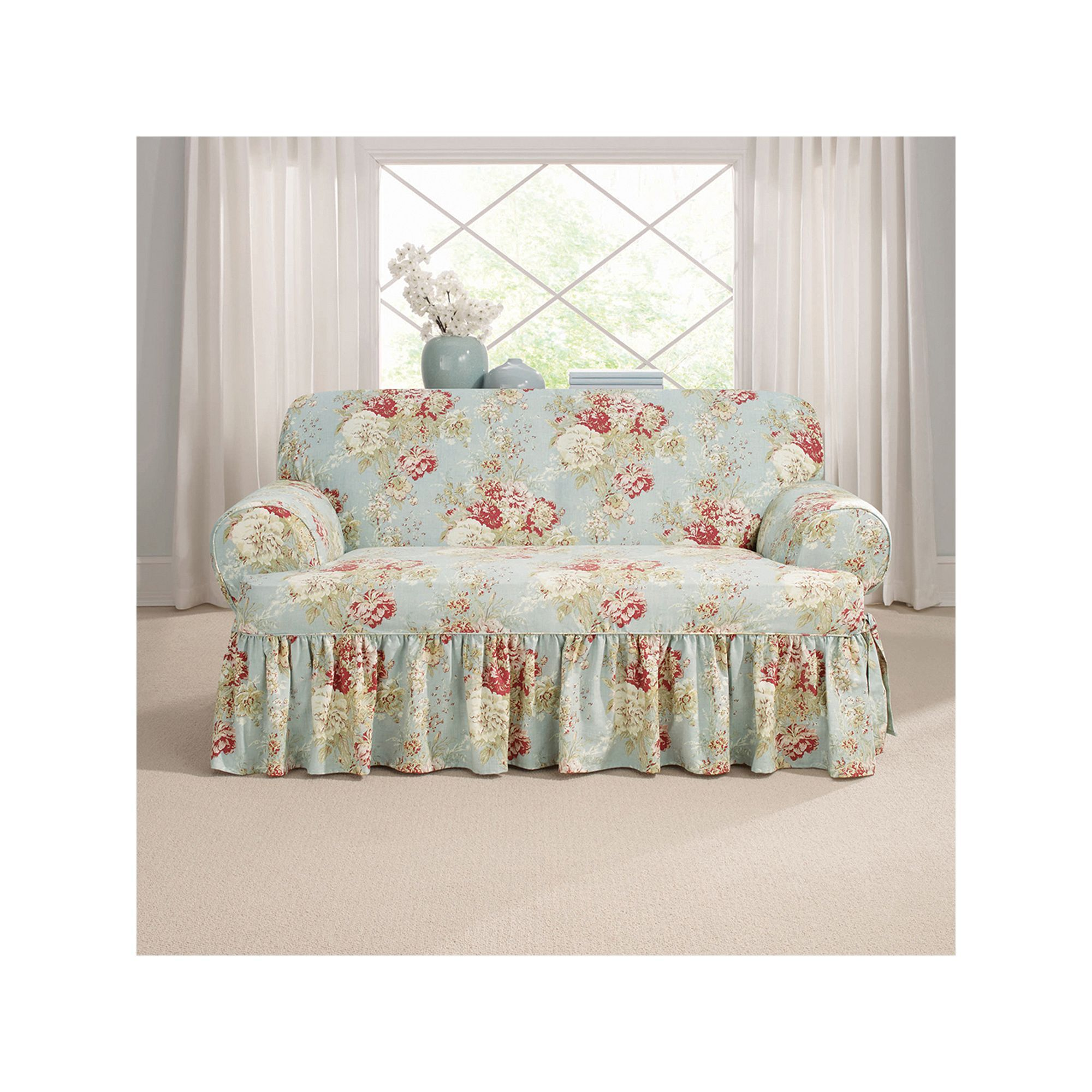 Miraculous Sure Fit Waverly Ballad Bouquet T Loveseat Slipcover In 2019 Theyellowbook Wood Chair Design Ideas Theyellowbookinfo