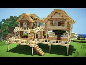 Minecraft starter house tutorial how to build  in easy youtube also rh za pinterest