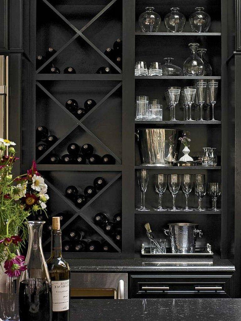 20 Elegant Kitchens With Open Shelving Wine Rack Furniture Home Wine Cellars Wine Furniture