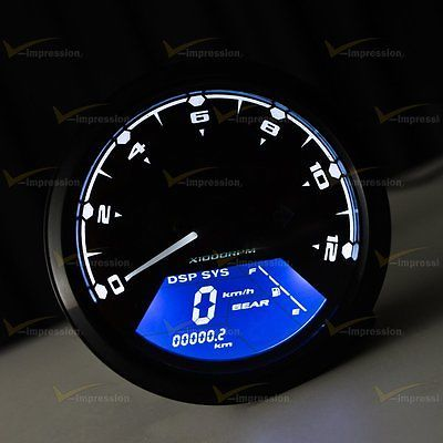 Details about Motorcycle Hour Meter Tachometer RPM Digital