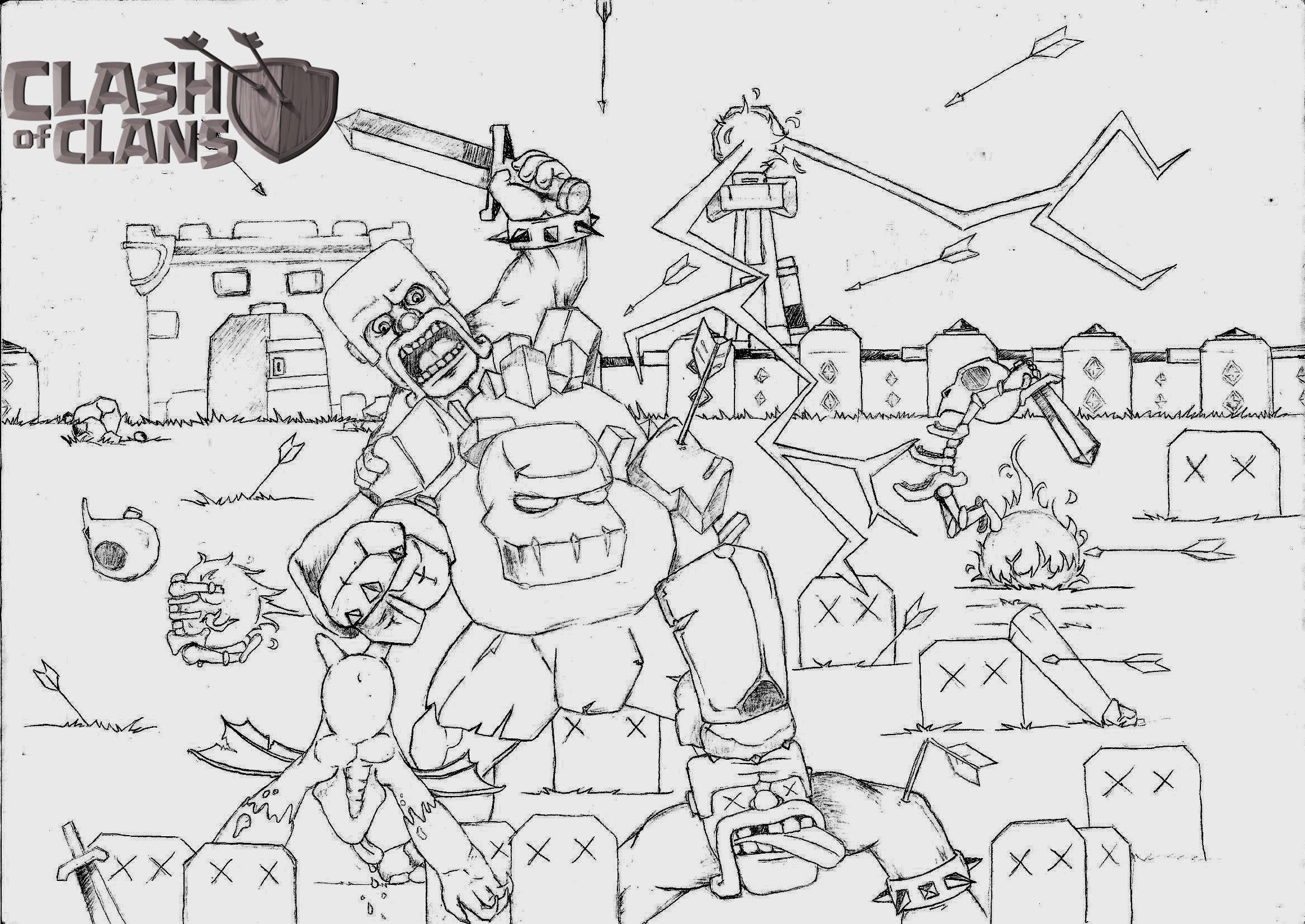 Dibujospara Colorear Clash Royale: Clash Of Clans Coloring Pages