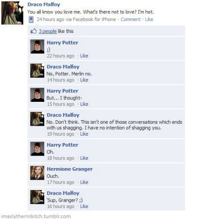 Funny Harry Potter Facebook Conversations Harry Potter Texts Harry Potter Feels Harry Potter Fanfiction