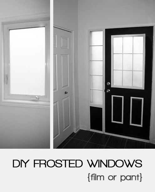 diy frosted windows window film vs spray paint A New home