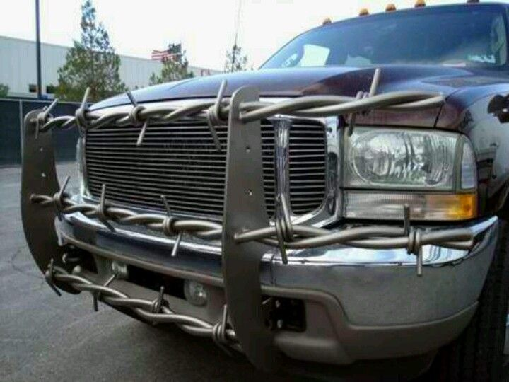 Truck Push Bar >> Barbed Wire For Power Stroke Push Bar Bumper Trucks Grill