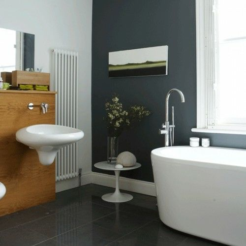 33 dunkle Badezimmer Design Ideen - dunkle badezimmer design graue - wohnideen fliesen dunkel
