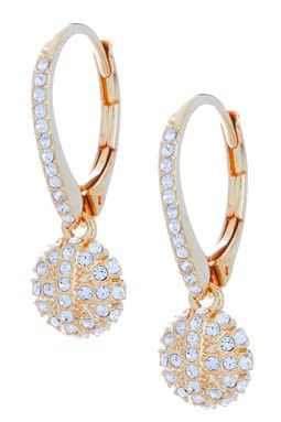 Round Pave Starburst Drop Earrings