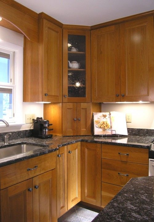 Love The Combination Of The Cabinets And The Countertops + Corner Appliance  Garage