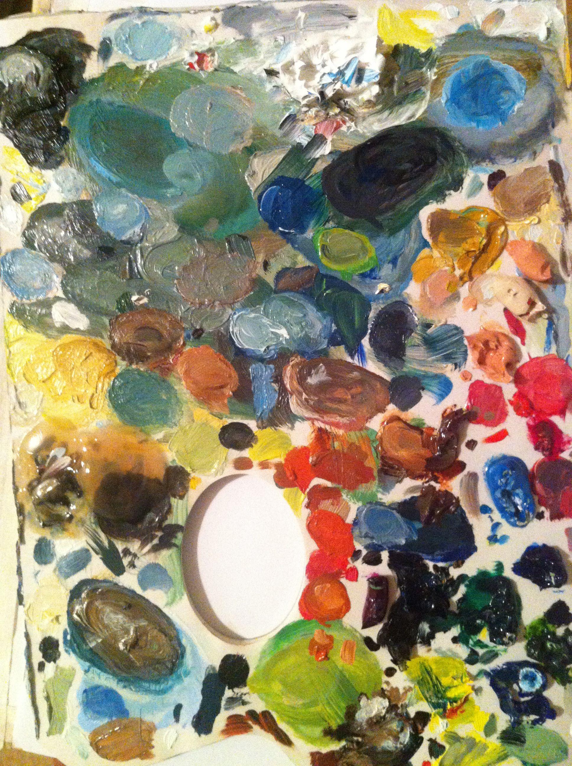 My paint palette painting art artwork