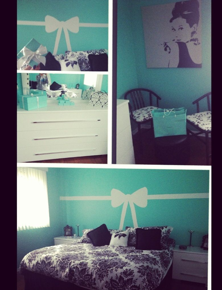 My Tiffany & co inspired bedroom | Bedrooms | Pinterest | Tiffany ...