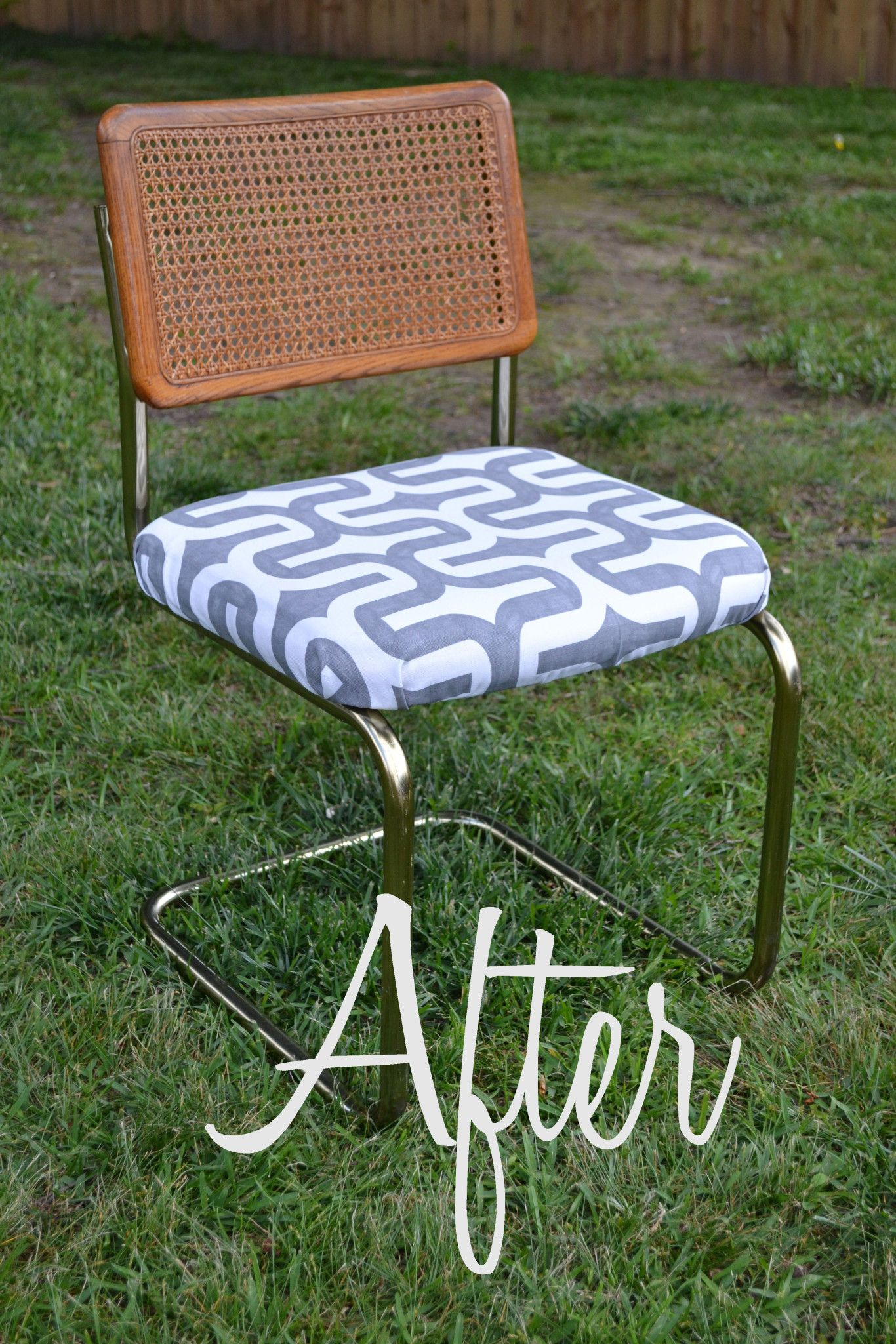 Chair Makeover Chair makeover, Cane chair makeover