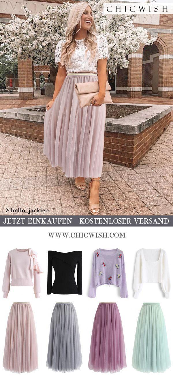 Photo of Meine Geheimwaffe: langer rosa Tüllrock #hellofall Shoppen Sie Chicwish und erh …