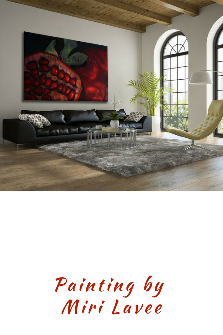 Extra large wall art oil painting fruit art large painting