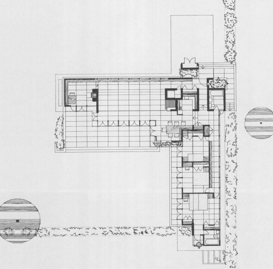 Not Pc Rosenbaum Floor Plan Frank Lloyd Wright Hosue