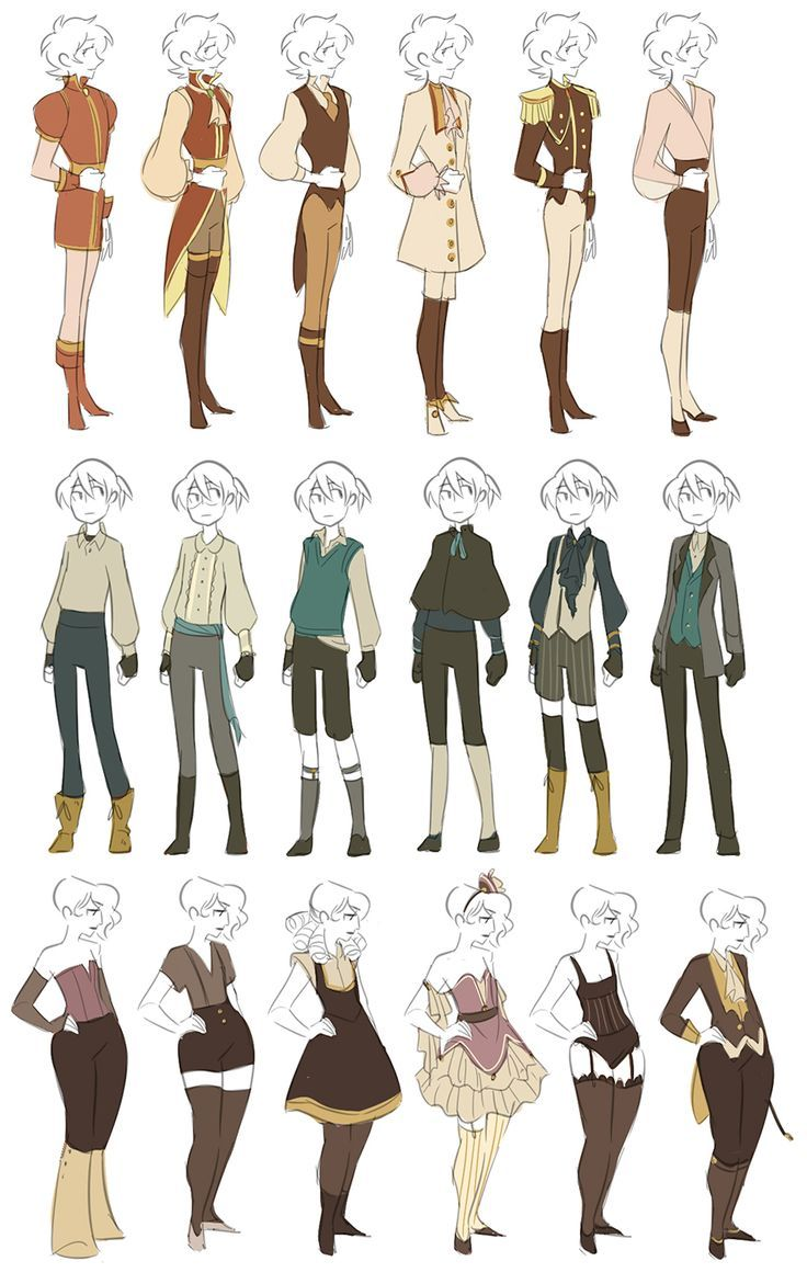 Top 40 Character Design Tips : Wardrobe by miraongchua viantart on deviantart