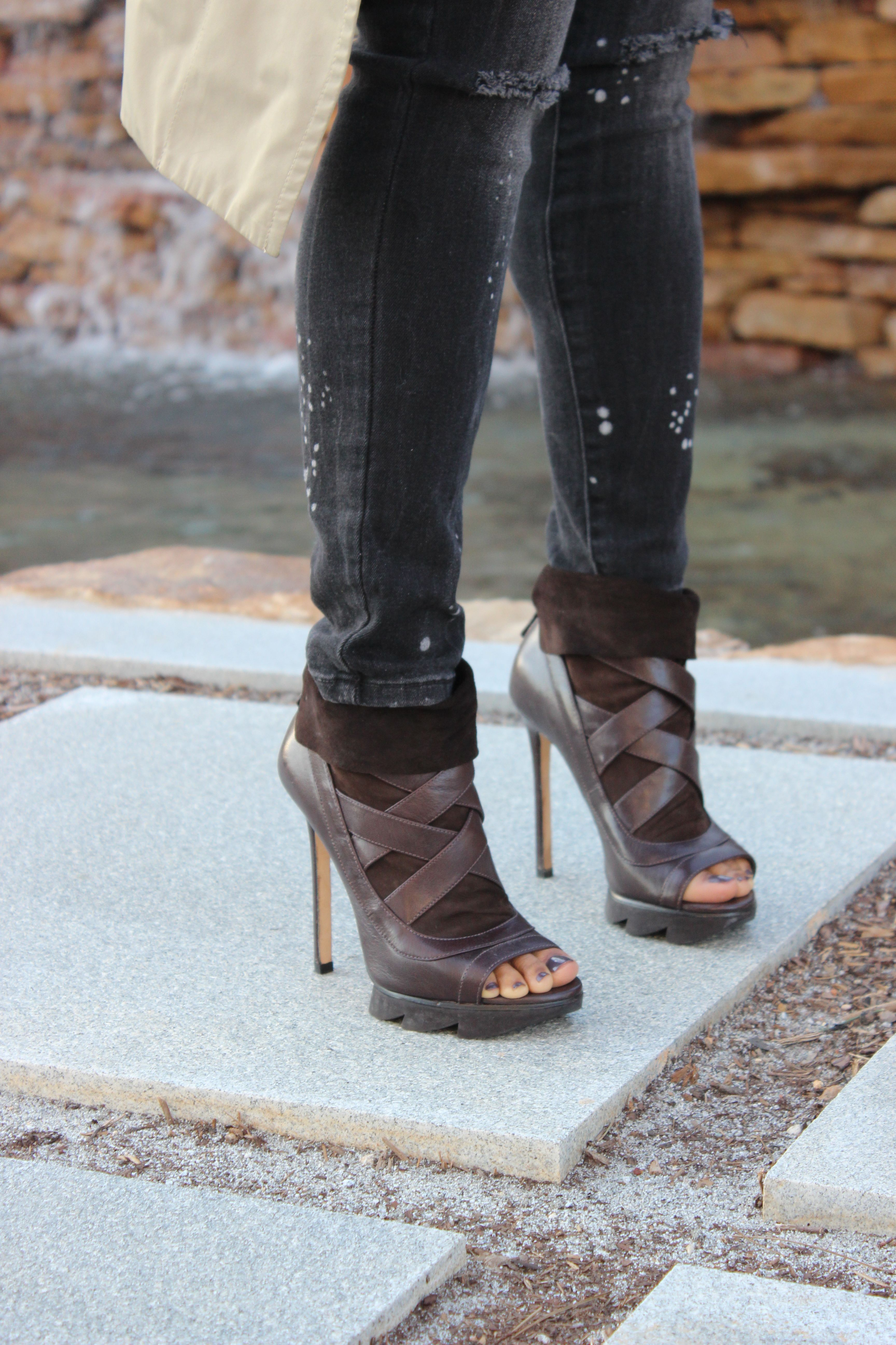 Peep-toe booties...the perfect transitional shoe for spring & fall.