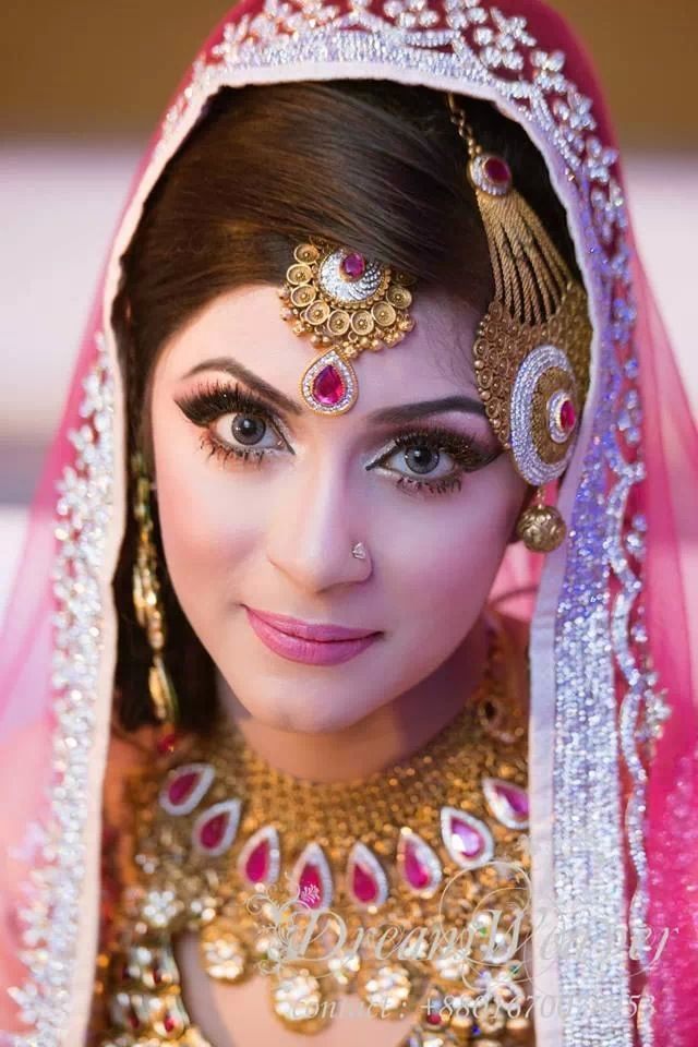 Shining Bangladeshi Bride in Gorgeous Pink Stone Gold and Diamond ...