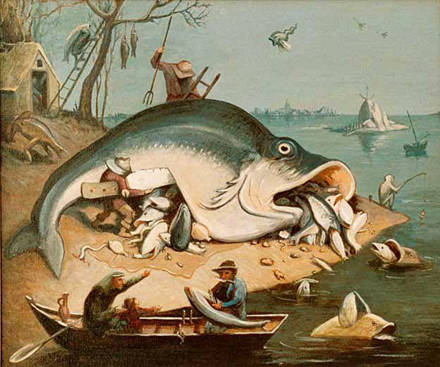 Описание работы «большие рыбы поедают малых».