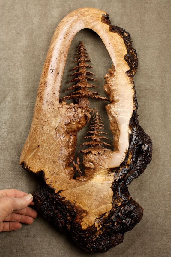 tree wood carving burl wall art by gary burns. Black Bedroom Furniture Sets. Home Design Ideas